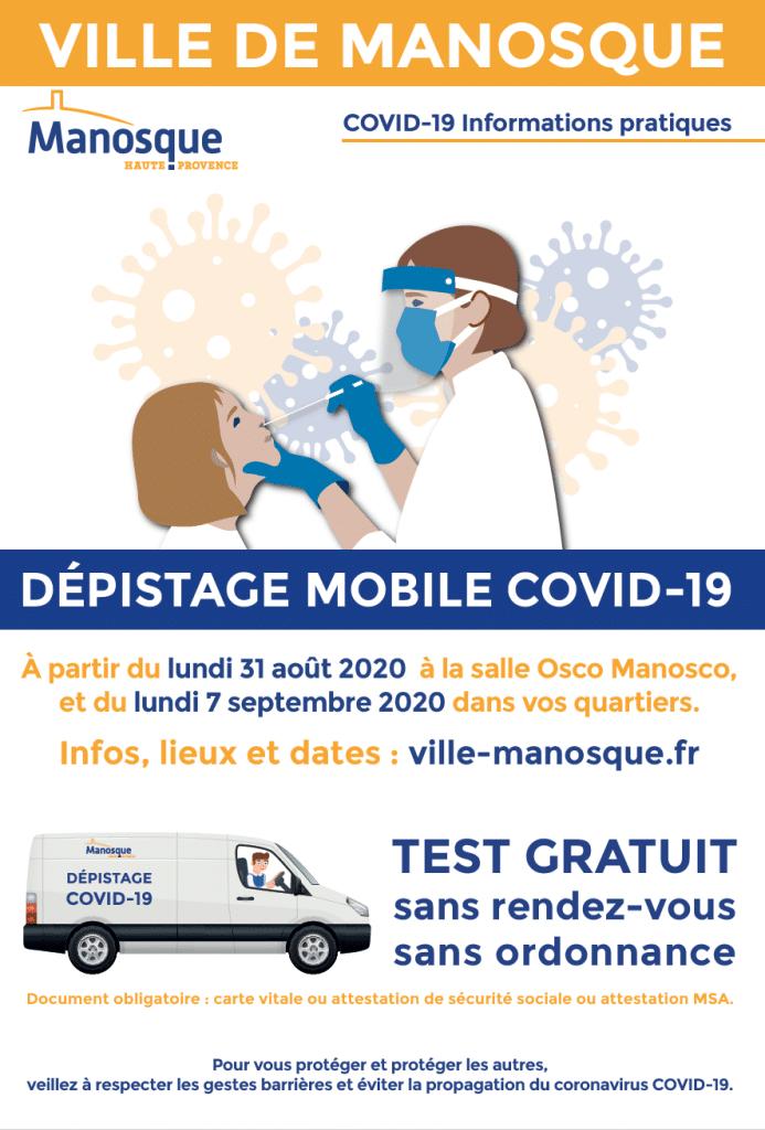 Dépistage Covid-19 Manosque