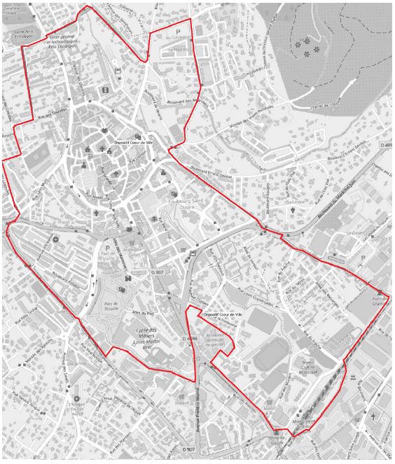 Carte périmètre Aide Action Logement Cœur De Ville