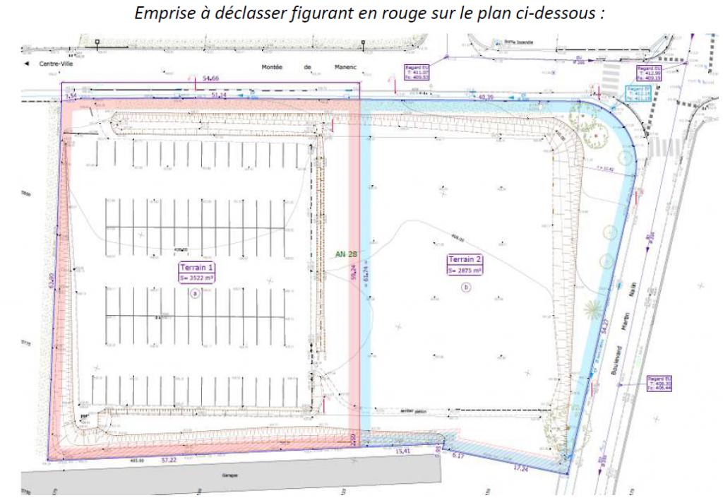 plan déclassement terrain communal du Colombier